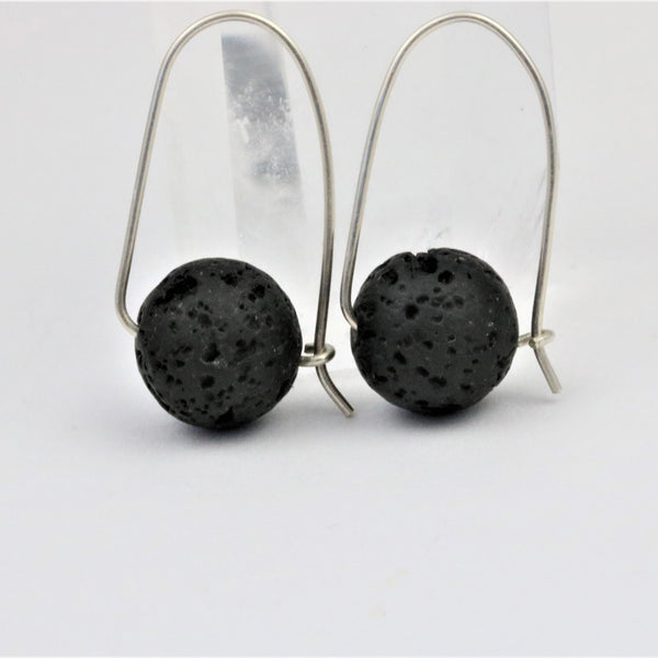 Lava Bead Earrings Essential Oils Jewelry - Sienna Grace Jewelry