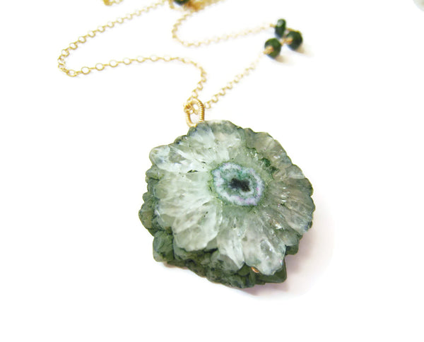 Green Solar Quartz Necklace