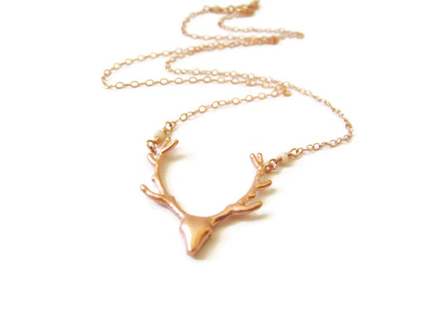 As Seen On Pretty Little Liars Rose Gold Deer Necklace - Sienna Grace Jewelry | Pretty Little Handcrafted Sparkles