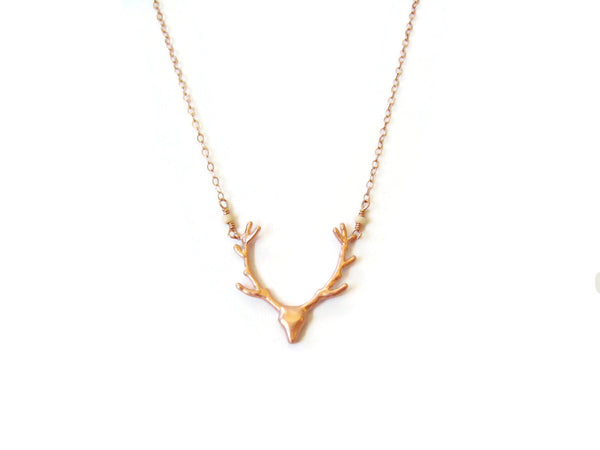 As Seen On Pretty Little Liars Rose Gold Deer Necklace
