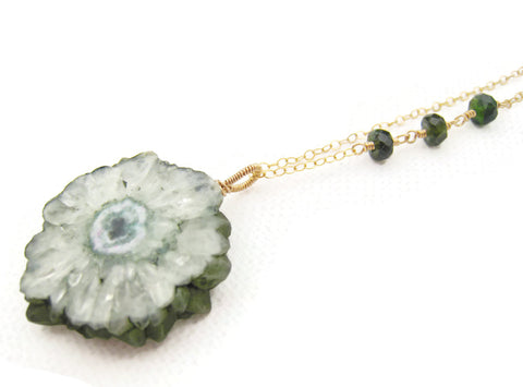 Green Solar Quartz Necklace - Sienna Grace Jewelry | Pretty Little Handcrafted Sparkles