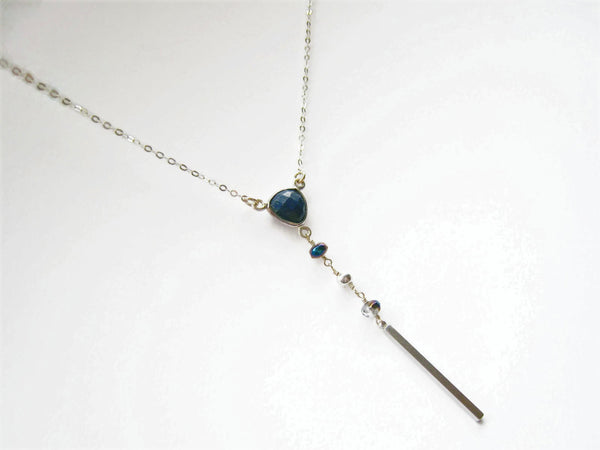 As Seen on The Vampire Diaries Season 8 Caroline's Lapis Lazuli Necklace
