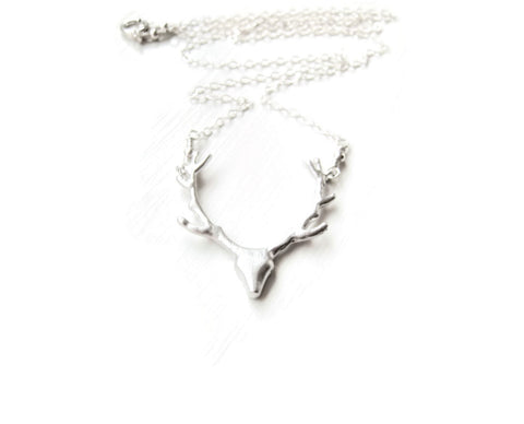 Silver Deer Necklace As Seen on Pretty Little Liars Spencer Hastings