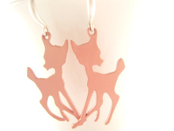 Pink Deer Earrings Bambi Woodland Nature Jewelry - Sienna Grace Jewelry | Pretty Little Handcrafted Sparkles