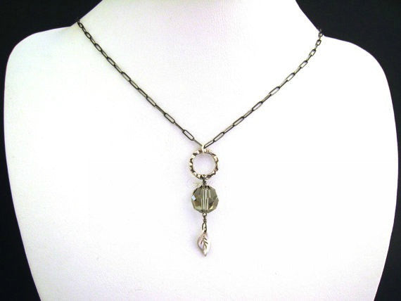 As Seen On The Vampire Diaries Elena Gilbert's Vintage Swarovski Crystal Necklace