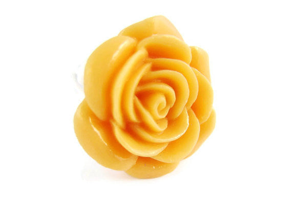 Yellow Rose Flower Ring Youth Size - Sienna Grace Jewelry