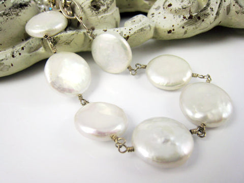Pearl Bracelet Coin Pearl Jewelry For Brides Bridesmaids Weddings