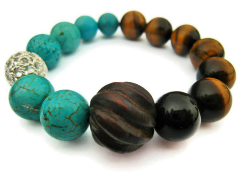 Tigers Eye Stackable Stretch Bracelet - Sienna Grace Jewelry