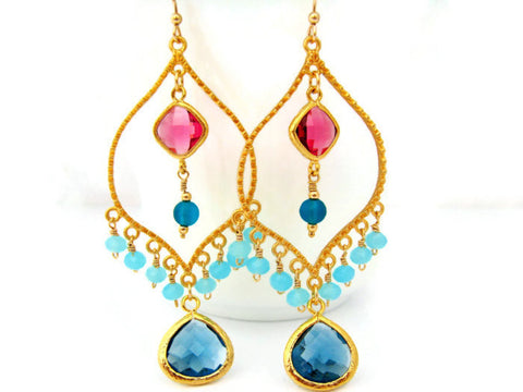 Bollywood Chandelier Earrings Gypsy Boho Style Statement Earring