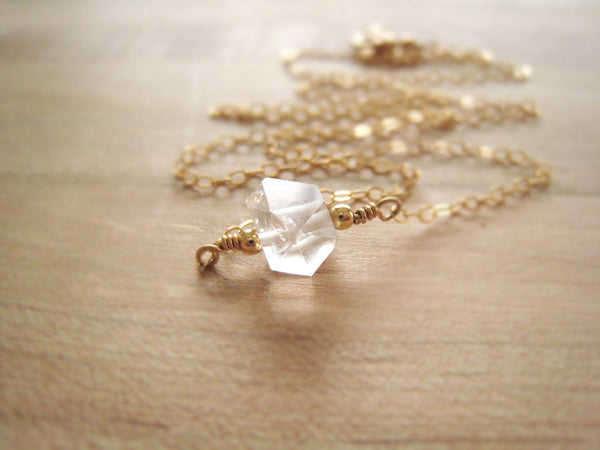 Herkimer Diamond Necklace - Sienna Grace Jewelry | Pretty Little Handcrafted Sparkles