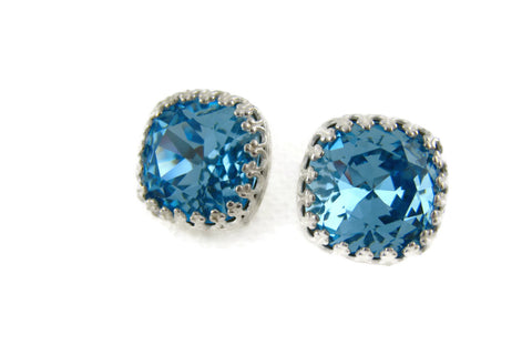 Aquamarine Swarovski Crystal Earrings