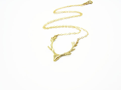 As Seen on Pretty Little Liars Gold Deer Necklace