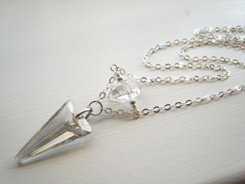 As Seen on The Vampire Diaries TVD Season 7 Caroline's Swarovski Silver Crystal Spike - Sienna Grace Jewelry | Pretty Little Handcrafted Sparkles