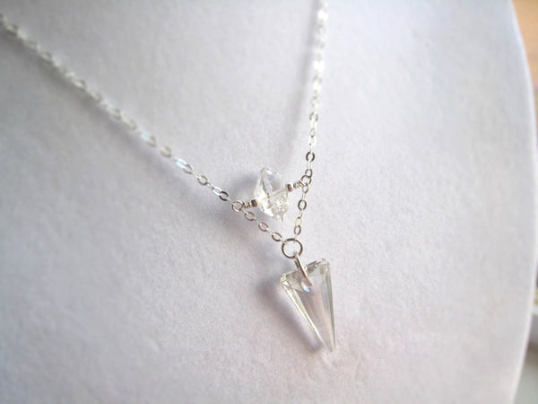 As Seen on The Vampire Diaries TVD Season 7 Caroline's Swarovski Silver Crystal Spike