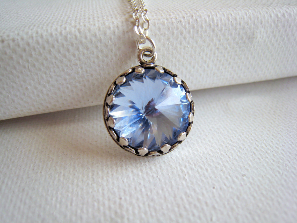 Swarovski Blue Crystal Necklace