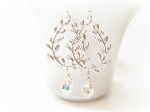 Silver Laurel Leaf Earrings - Sienna Grace Jewelry | Pretty Little Handcrafted Sparkles