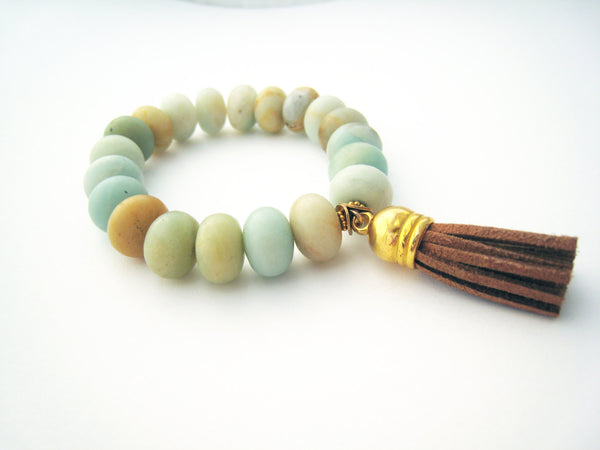 Amazonite Stretch Stacking Bracelet - Sienna Grace Jewelry | Pretty Little Handcrafted Sparkles