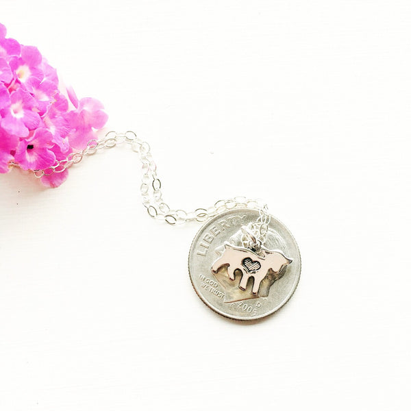Goat Necklace in Silver or Gold Goat Yoga Jewelry - Sienna Grace Jewelry | Pretty Little Handcrafted Sparkles