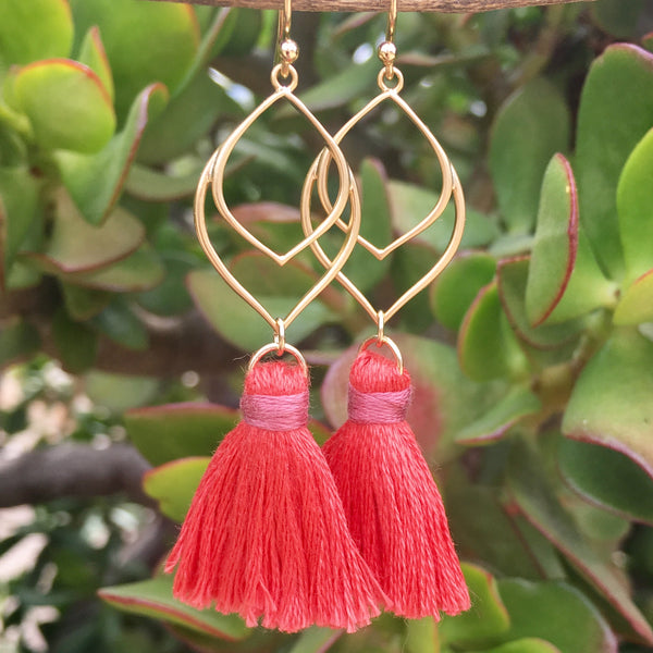 Tassel Earrings Gold or Silver Colors of Fall Bohemian Style