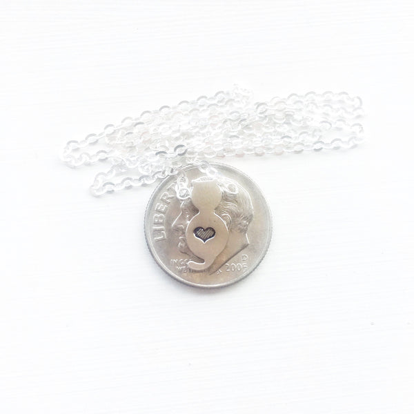 Kitty Cat Personalized Necklace for Animal Lover - Sienna Grace Jewelry | Pretty Little Handcrafted Sparkles