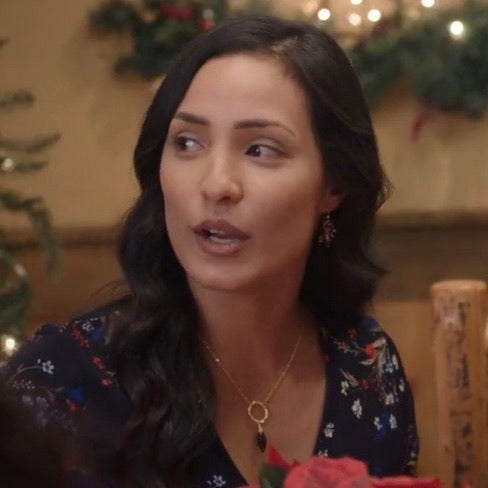 Smoky Dew Drop Quartz Gold Necklace As Seen on Lifetime's The Christmas Edition - Sienna Grace Jewelry
