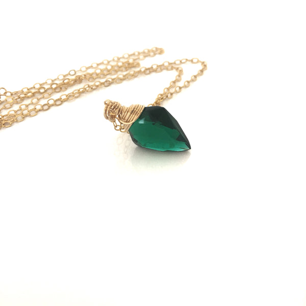 Green Quartz Necklace Arrowhead Quartz 14 k Gold Filled - Sienna Grace Jewelry | Pretty Little Handcrafted Sparkles