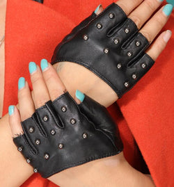 Sexy Studs Fingerless Half Gloves