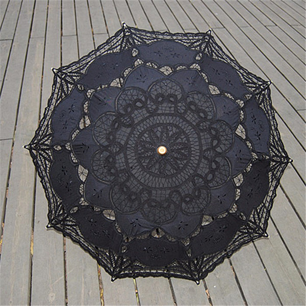 Lace Parasol: Black or White