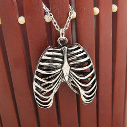 Rib Cage Pendant With Chain