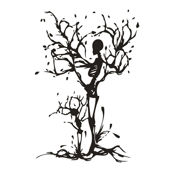 Skeleton Tree Wall Decal