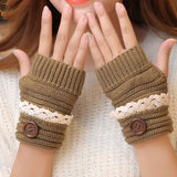 Cozy Goth Fingerless Knit Gloves