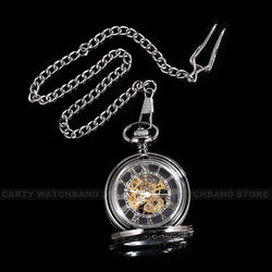 Hand Wound Classic Pocket Watch With Gears