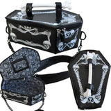 Coffin Bag With Skulls and Bones