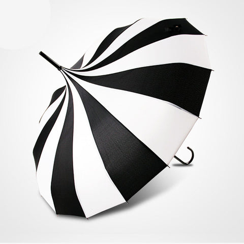 Black and White Stripes Umbrella
