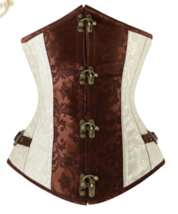 Luxury Brown and Ivory Underbust Corset