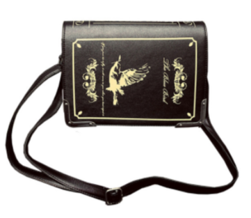 Antique Book-Style PVC Crossbody Bag