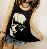 Skull Shredded Back Tank