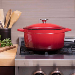 6 Quart Enamel Round Dutch Oven