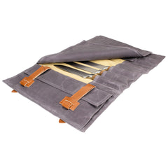 Premium Waxed Canvas Knife Roll Bag