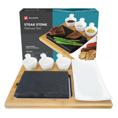 lava stone cooking set with box
