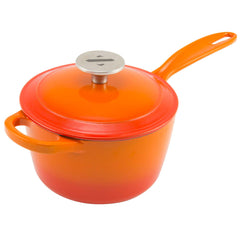 2 Quart Enameled Cast Iron Sauce Pan with Lid