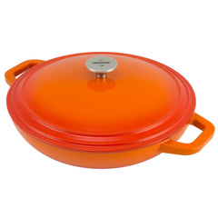 beautiful tangerine orange color casserole dish