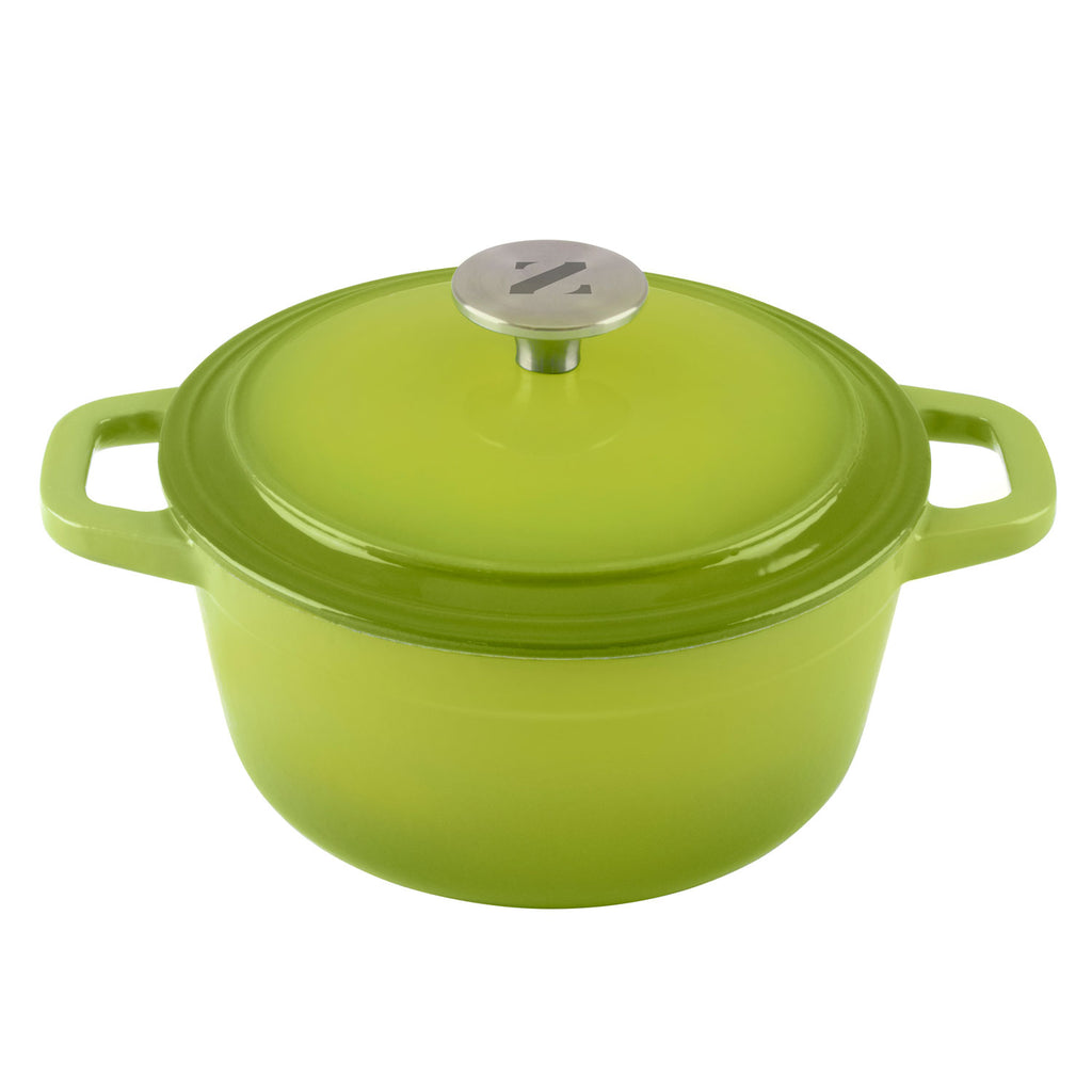 3 Quart Cast Iron Enamel Covered Iron Dutch Oven Cooking Dish With