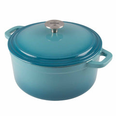 Cookware 3-Quart Enameled Cast Iron Dutch Oven Cooking Dish with Lid