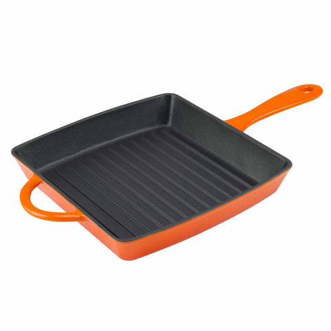 enamel cast iron grill pan