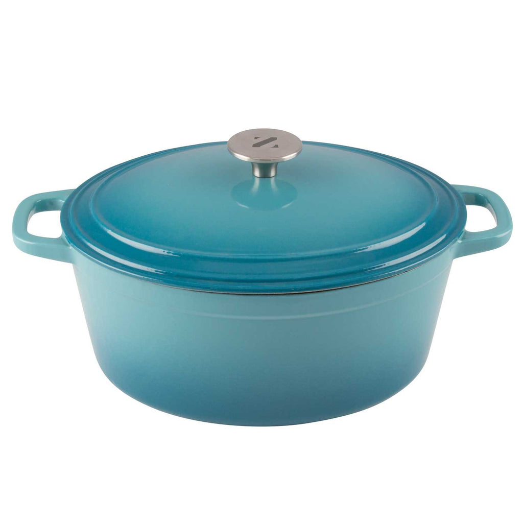 6 quart oval cooking dutch oven enameled cast iron pot