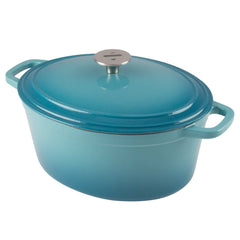 zelancio 6 quart oval dutch oven with loop handles and stainless steel knob