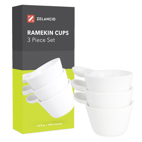 Ceramic Ramekin Cups - Set of 3
