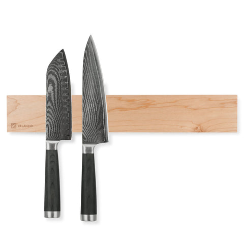 maple magnetic knife with Damascus steel knives