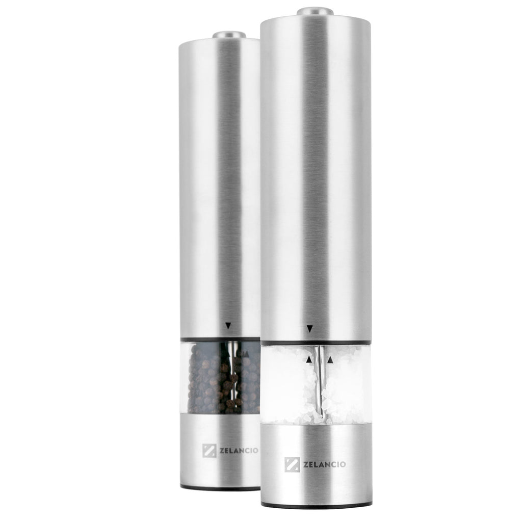Stainless Steel Electric Salt Pepper Spice Grinder Mills